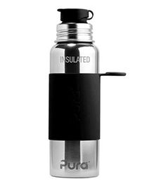 Pura Stainless Steel Insulated Water Bottle Black - 650 ml