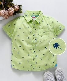 b458ce20 Babyhug Half Sleeves Shirt Palm Tree Print - Green