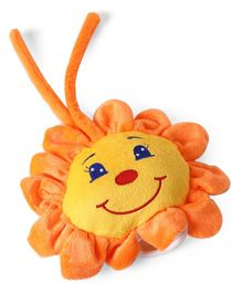Plush Sun Flower Shaped Musical Toy Orange - Height 30.5 cm