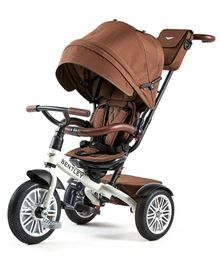 Bentley Tricycle With Canopy & Parent Push Handle - Satin Brown