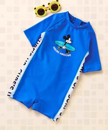 Fox Baby Legged Swimsuit Mickey Mouse Print - Royal Blue