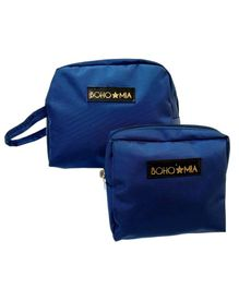 Bohomia Toiletry Set of 2 Pouches Travelling kit - Blue
