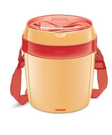 Milton Futron Electric Lunch Box With Three Containers Orange - 360 ml