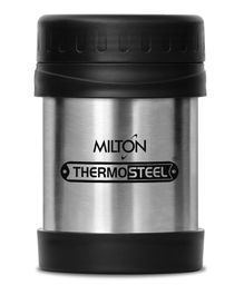 Milton Thermosteel Hot & Cold Soup Flask Silver Black - 350 ml