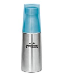 Milton Thermosteel Bottle With Tumbler Glass Silver Blue - 720 ml