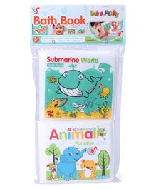 Animals & Submarine World Bath Books Pack of 2 - Multicolor