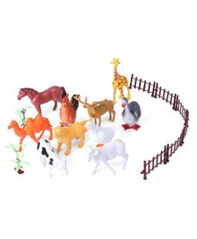 Farm Animals Set of 17 - Multicolor