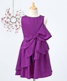 Pikaboo Solid Sleeveless Dress - Purple