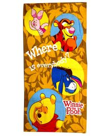 Sassoon Winnie The Pooh Printed Bath Towel - Yellow