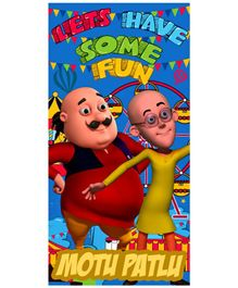 Sassoon Motu Patlu Kids Towel With Gift Box - Blue