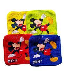 Sassoon Disney Mickey Cotton Face Towel Set of 12 - Multicolor