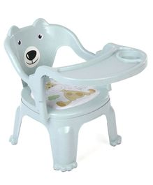 Chair With Feeding Tray - Light Green