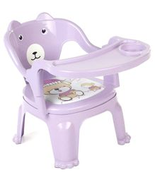 Chair With Feeding Tray - Purple