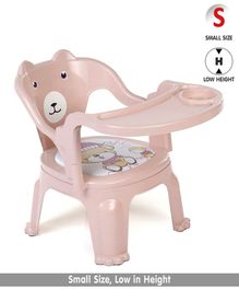 Chair With Feeding Tray - Light Pink