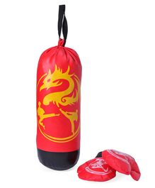 Kids Boxing Set Dragon Print - Red