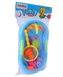 Baby Bath Toy Set of 8 - Blue