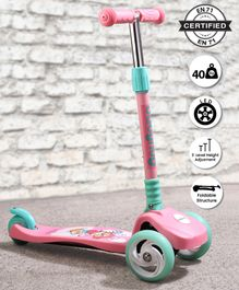 Babyhug Velocity  Lightweight 3 Wheel Scooter - Pink