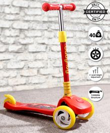 Babyhug Velocity Lightweight 3 Wheel Scooter - Red