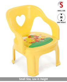 Solid Plastic Baby Chair - Yellow (Print May Vary)