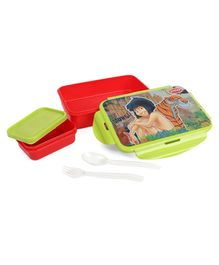 Jungle Book Lunch Box Mowgli Print Green - 950 ml