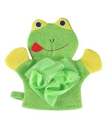 Syga Bathing Gloves Frog Shape - Green
