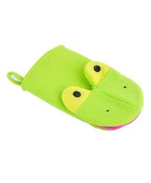 Syga Animal Bathing Gloves Crocodile Face - Green