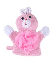 Syga Animal Bathing Gloves Bunny Face & Hands - Pink