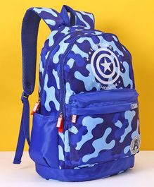 Marvel Avengers Captain America School Bag Blue - Height 19 Inches