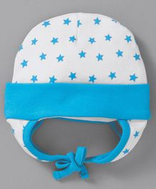 6f8b80c4c24 Babyhug Cotton Bonnet Cap Star Print - White Blue