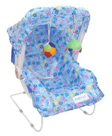 EhomeKart 10 In 1 Baby Bear Print Carry Cot Cum Bouncer - Blue