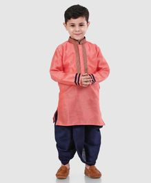 286f954f2319 Babyhug Full Sleeves Kurta And Dhoti - Peach Blue