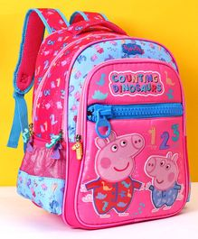 Peppa Pig School Bag Pink Blue - 16 Inches