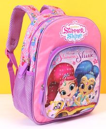 Shimmer n Sparkle School Bag Pink - Height 12 Inches