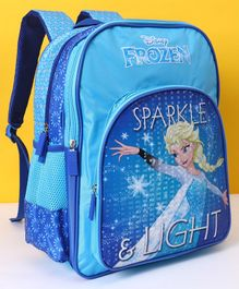 Disney School Bag Frozen Sparkle & Light Print Blue - Height 16 Inch