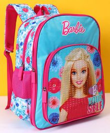 Barbie School Bag Sky Blue Pink - Height 16 inches