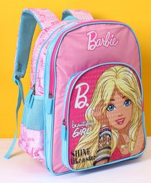 Barbie School Bag Reach Your Dreams Print Purple - Height 14 Inches