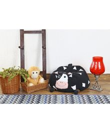 My Gift Booth Bean Bag Cow Design - Black
