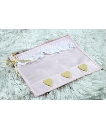 My Gift Booth Utility Pouch Heart Applique Pack of 2  - Pink