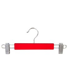 Forever Wooden Hanger With Adjustable Clips Pack of 5 - Red