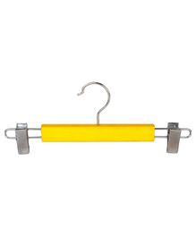 Forever Wooden Hanger With Adjustable Clips Pack of 5 - Yellow