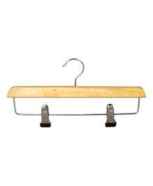 Forever Wooden Hanger With Adjustable Clips Pack of 5 - Light Brown