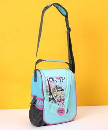 Maped Solid Color Lunch Bag Paris Print - Turquoise Blue