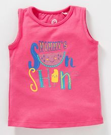 JusCubs Mommy's Sun Shin Print Sleeveless Top - Pink