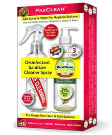 PaxClean - All in One - Triple Active Disinfectant Sanitizer Cleaner Spray Concentrate for Complete Home Hygiene Lime & Tangerine - 250 ml