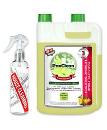 PaxClean - All in One - Triple Active Disinfectant Sanitizer Cleaner Concentrate for Complete Home Hygiene Lime & Tangerine - 1 Liter