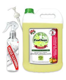 PaxClean - All in One - Triple Active Disinfectant Sanitizer Cleaner Concentrate for Complete Home Hygiene Lime & Tangerine - 5 Liter
