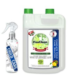 PaxClean - All in One - Child Care Triple Active Disinfectant Sanitizer Cleaner Concentrate Lemon & Neem - 1 Liter