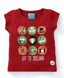 Solittle Off To Ireland Printed Short Sleeves Tee - Red