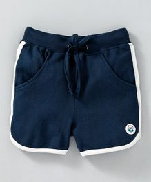 Solittle Solid Shorts With Side Line - Navy Blue
