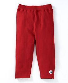 Solittle Solid Full Length Pants - Red